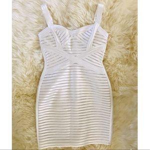 Gorgeous white satin BCBGMAXAZRIA dress
